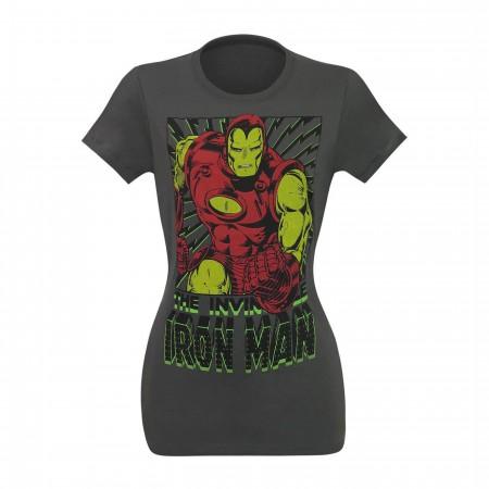 Iron Man Vintage Black Bolts Women's T-Shirt