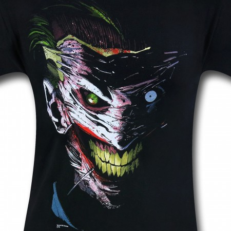 Joker Face Mask By Greg Capullo T-Shirt