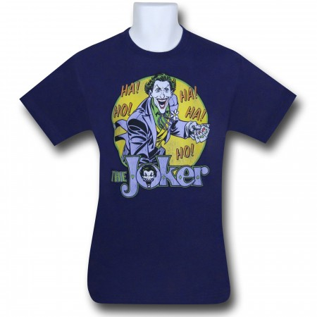 Joker Ho Ha! Men's Purple Retro T-Shirt