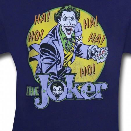 Joker Ho Ha! Men's Purple Retro T-Shirt