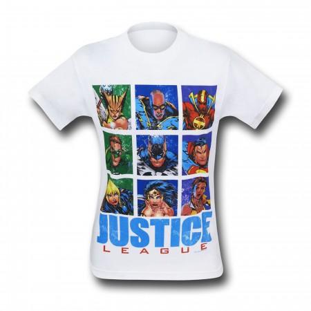 JLA Justice League Hero Squares T-Shirt