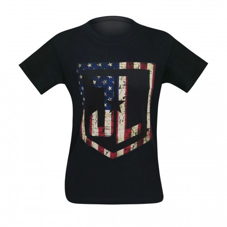 Justice League Movie American Flag Logo Men's T-Shirt