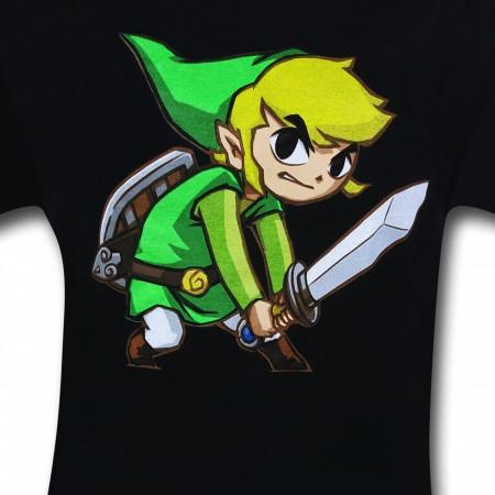 Zelda Big Link Black T-Shirt