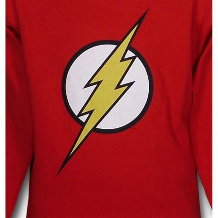 Flash Kids Symbol Red Long Sleeve T-Shirt