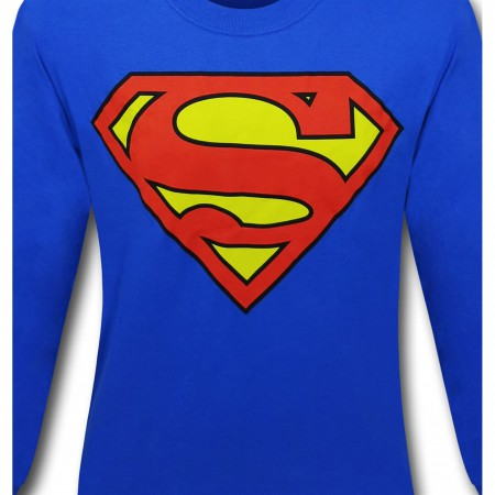 Superman Symbol Shirt Royal Blue Long-Sleeve