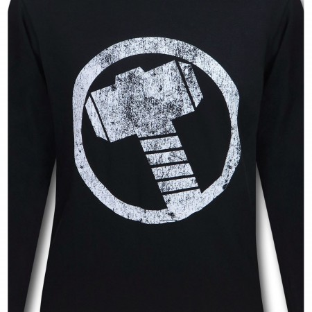Thor Hammer Symbol Men's Long Sleeve T-Shirt