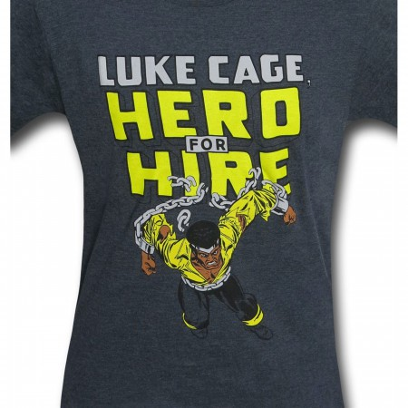 Luke Cage Hero for Hire Heather Men's T-Shirt