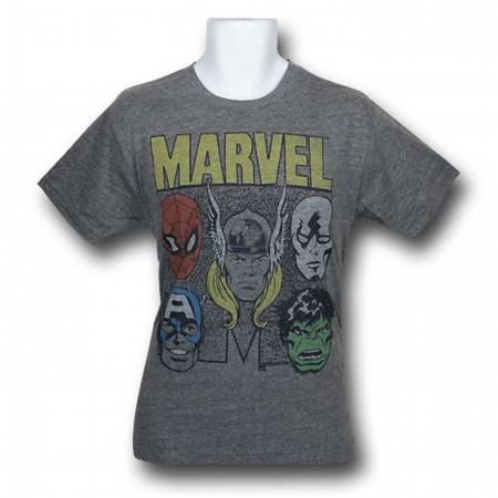 Marvel Retro Team Heads Junk Food T-Shirt