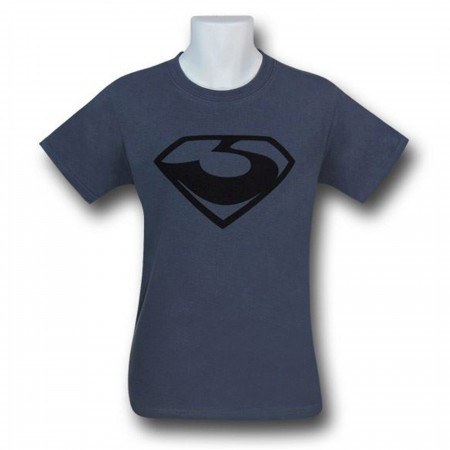 Man of Steel Zod Symbol Black on Grey T-Shirt
