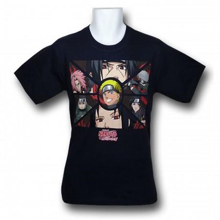 Naruto Group Panels T-Shirt