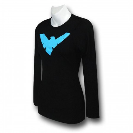 Nightwing Symbol Women's Long-Sleeved T-Shirt