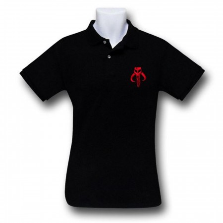 Star Wars Mandalorian Black Polo Shirt