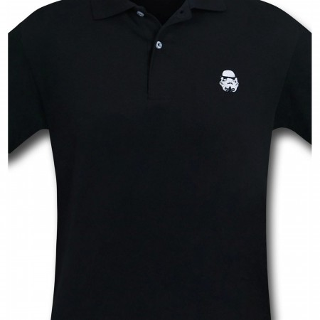 Star Wars Stormtrooper Black Polo Shirt