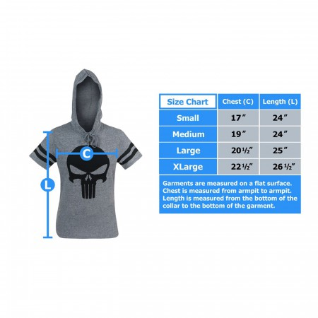 Punisher Athletic Hooded Men's T-Shirt
