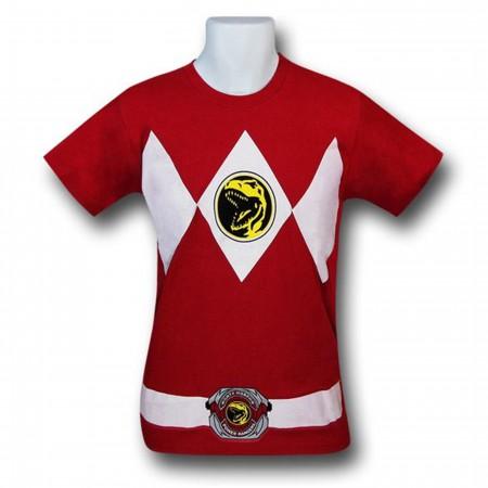 Power Rangers Red Ranger Costume T-Shirt