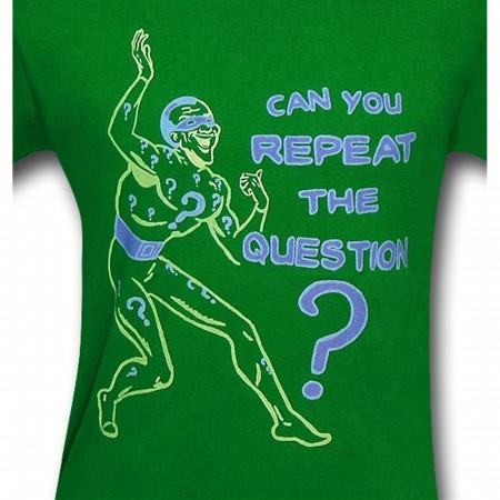Riddler Repeat the Question Green T-Shirt