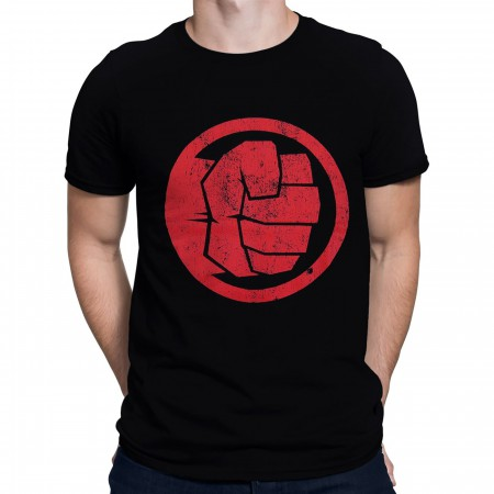 Red Hulk Fist Bump Men's T-Shirt