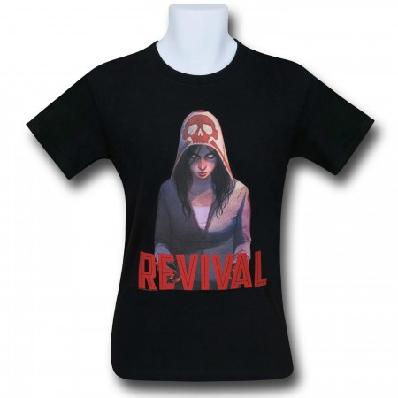 Revival Em on Black T-Shirt