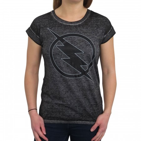 Reverse Flash Logo Women's Rolled Sleeve T-Shirt