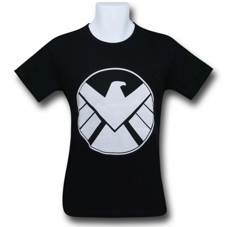 SHIELD White Symbol on Black T-Shirt