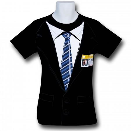 SHIELD Suit Costume Black T-Shirt