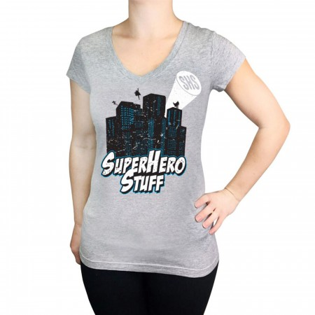 SuperHeroStuff 17th Anniversary Women's V-Neck T-Shirt