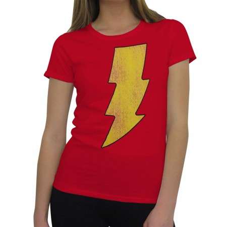 Shazam Distressed Symbol Women's T-Shirt