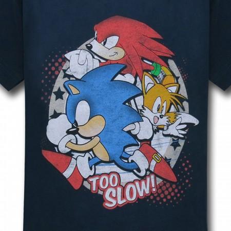 Sonic The Hedgehog Too Slow Kids T-Shirt