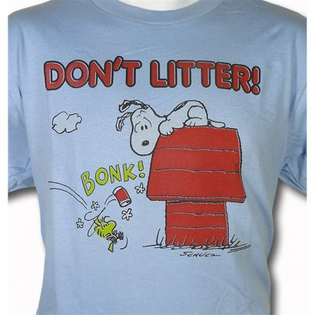 Snoopy Don't Litter T-Shirt