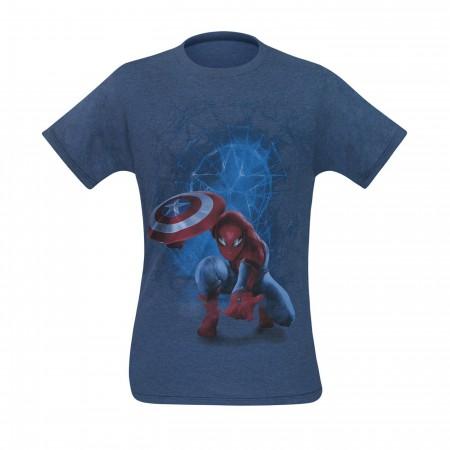 Spiderman with Captain's Shield Men's T-Shirt