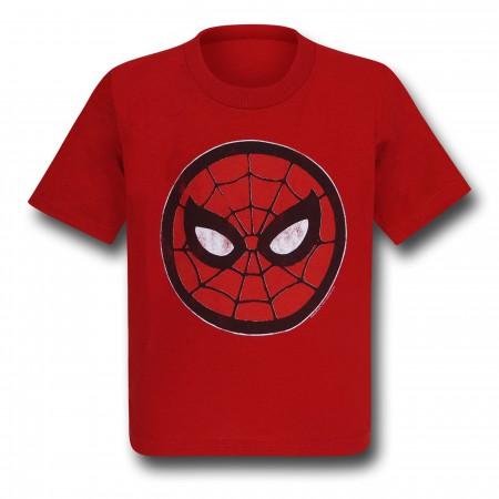 Spiderman Mask Circle Kids T-Shirt