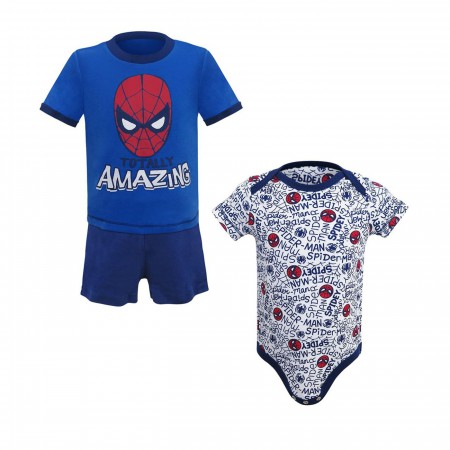 Spider-Man Totally Amazing Newborn 3-Piece Set