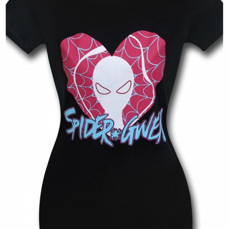 Spider-Gwen Heart Logo Womens T-Shirt