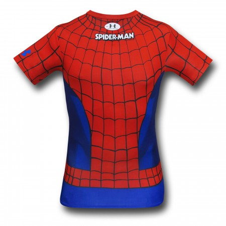 Spiderman Costume Under Armour Compression T-Shirt