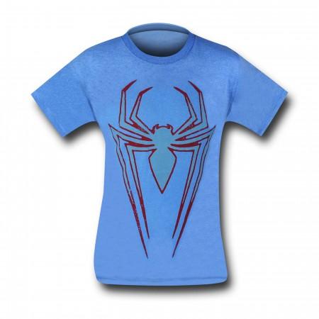 Spiderman Ultimate Symbol on Blue T-Shirt