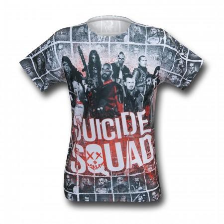 Suicide Squad Splatter Sublimated Men's T-Shirt