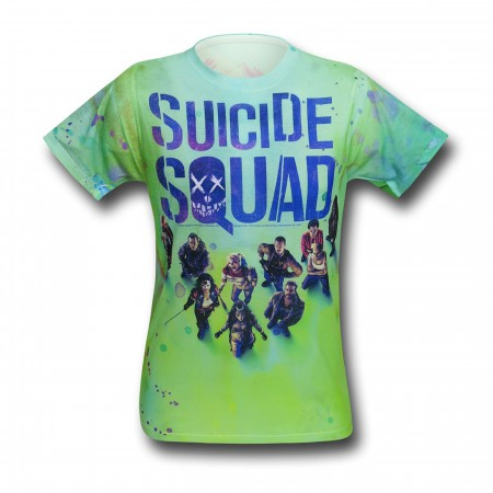 Suicide Squad Poster Sublimated Men's T-Shirt
