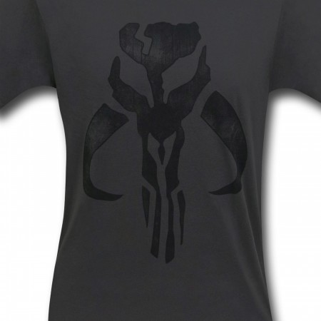 Star Wars Grey Mandalorian Crest 30 Single T-Shirt