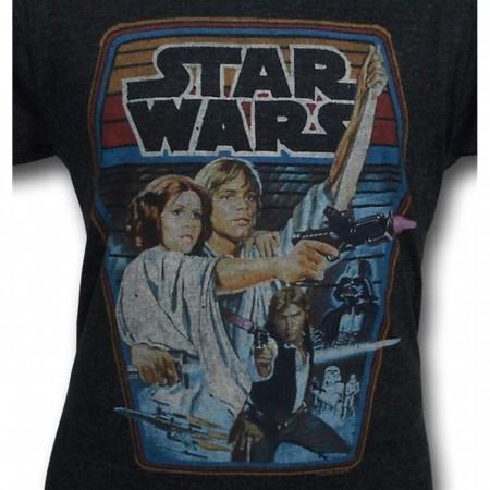 Star Wars Retro Poster Junk Food T-Shirt
