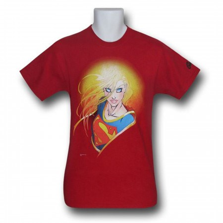 Supergirl T-Shirt Red Adult Size Michael Turner