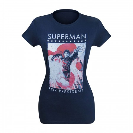 Superman for President Clouds Women's T-Shirt