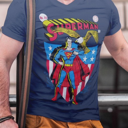 Superman America # 14 Comic Cover Men's T-Shirt