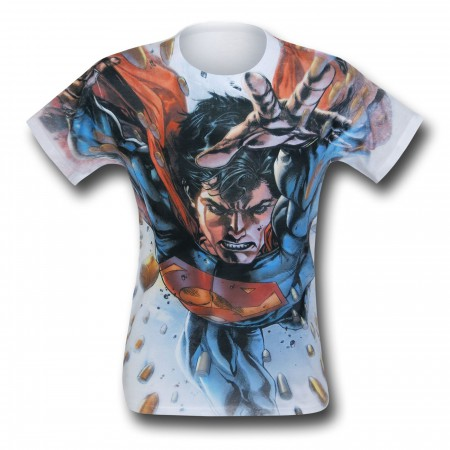Superman Bullets In The Sky Sublimated T-Shirt