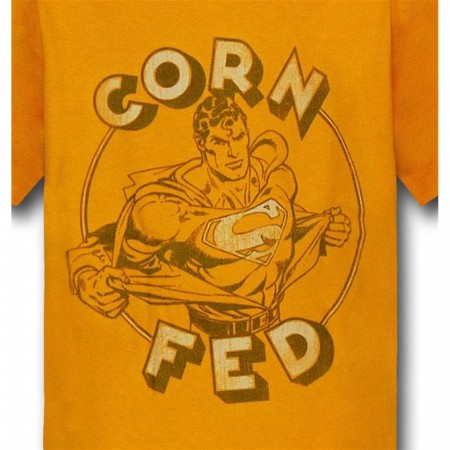 Superman Corn Fed Kids Yellow T-Shirt