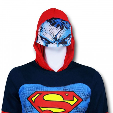 Superman Hooded Costume Kids Double-Sleeve T-Shirt