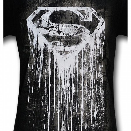 Superman Dark Symbol Streaking T-Shirt