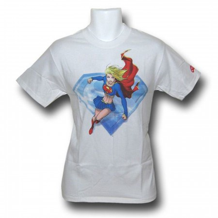 Supergirl White Adult T-Shirt Michael Turner