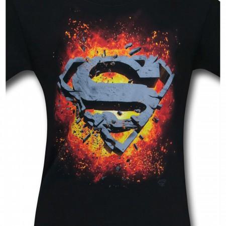 Superman Exploding Symbol T-Shirt