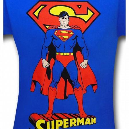 Superman Front & Back Image Blue T-Shirt