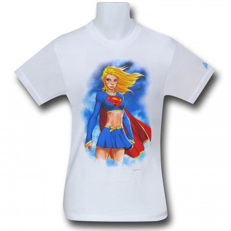 Supergirl Clouds by Michael Turner T-Shirt